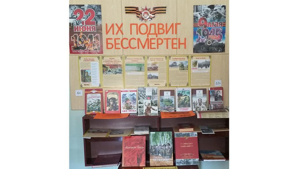 Книжно–иллюстративная выставка «Их подвиг бессмертен»